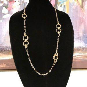 BANANA REPUBLIC golden knot layering necklace NWOT